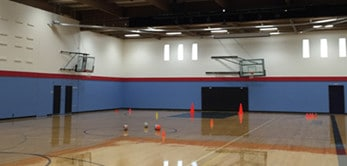 Eastside Christian gymnasium painting project by Armadillo Painting