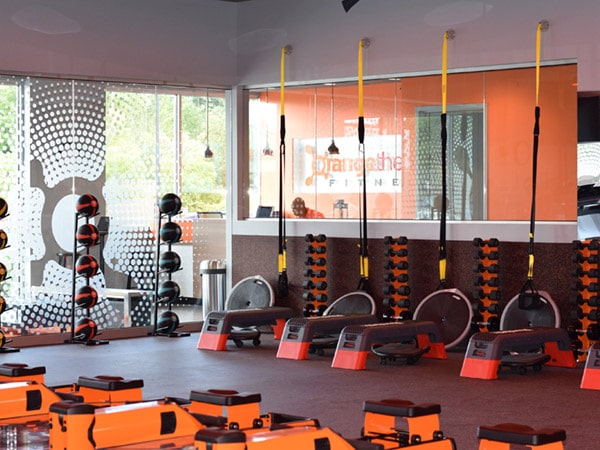 Commercial painting services Orange Theory Fitness Seattle Washington by Armadillo Painting
