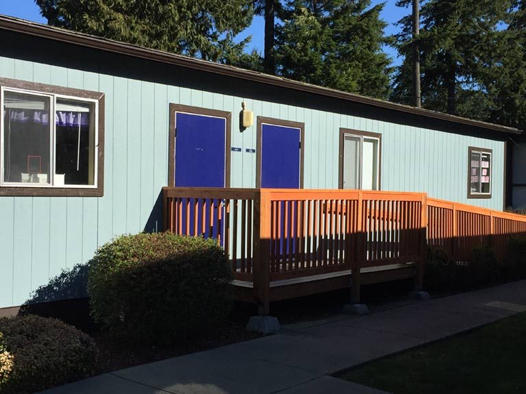 Eastside Christian School exterior painting project Bellevue Washington by Armadillo Painting