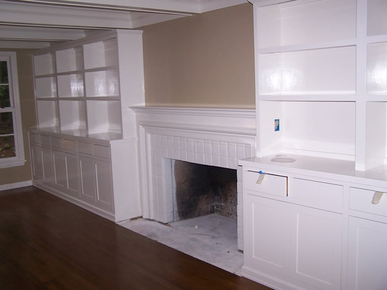 Residential cabinet painting by Armadillo Painting Mercer Island