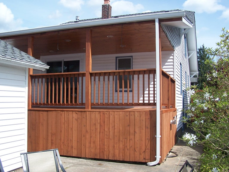 Seattle deck staining by Armadillo Painting 2