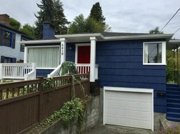 Seattle house with modern color exterior painting by Armadillo Painting