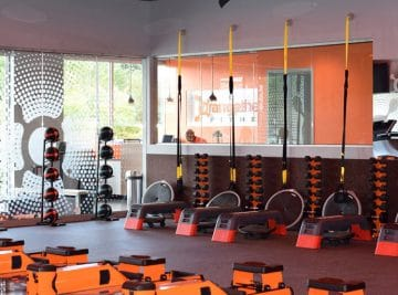 commercial painting project Orange Theory Fitness Shoreline Washington by Armadillo Painting