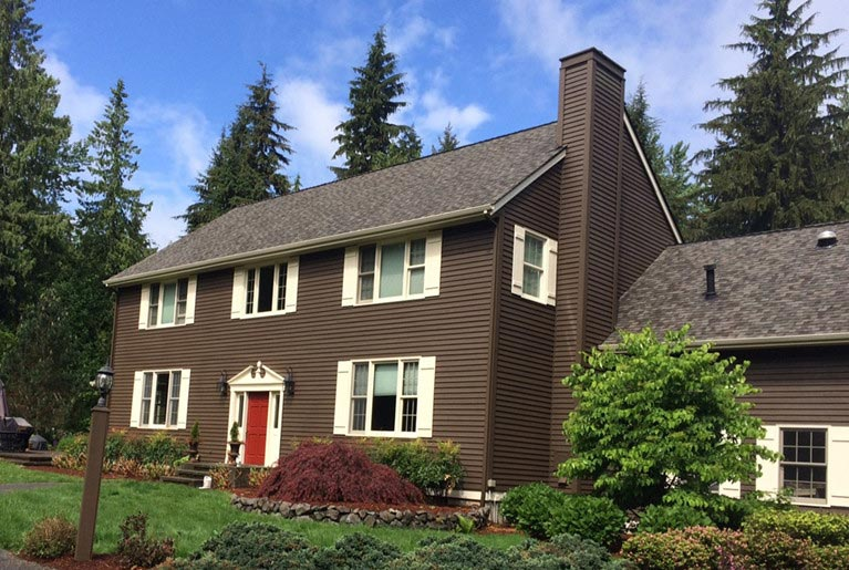Exterior painting in woodinville by armadillo painting