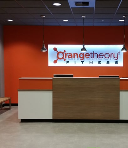 Commercial painting project - Orange Theory Fitness - Shoreline, Washington by Armadillo Painting